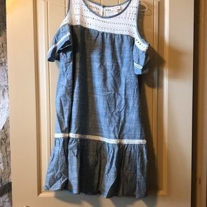 Cat & Jack blue and white dress xl 14/16